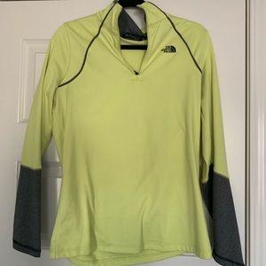 Green/Yellow & Grey North Face Jacket